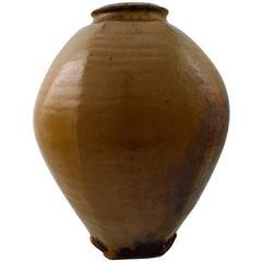 Gutte Eriksen, Own Workshop, Large Hexagonal Ceramic Floor Vase