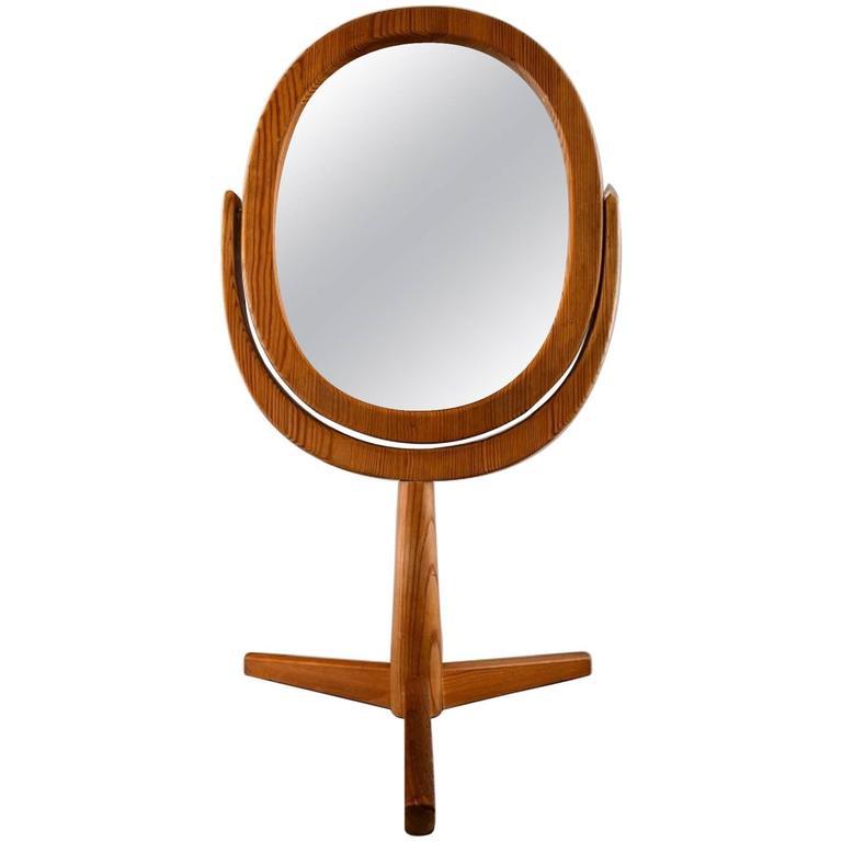 Hans-Agne Jakobsson Table Mirror of Oak, Sweden, circa 1960s