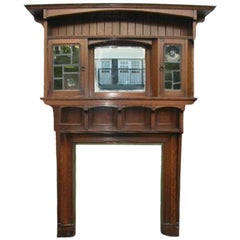 Impressive Arts and Crafts Oak Fire Surround by Liberty and Co