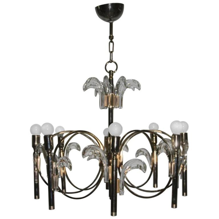 Sculpture Italian Design Chandelier Sciolari