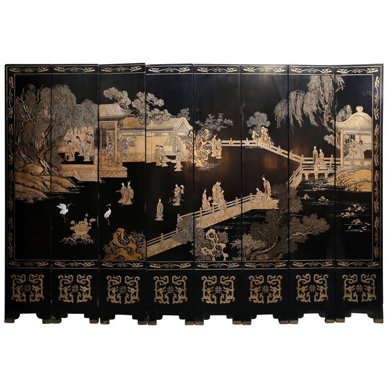 Eight-Panel Reversible Chinese Coromandel Screen