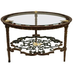 Italian Wrought Iron Coffee Table, circa 1950