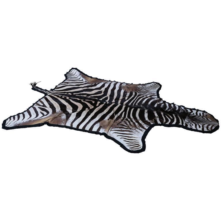 Vintage Zebra Hide Rug For Sale At 1stdibs