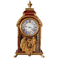 French Louis XIV Tortoiseshell Boulle Clock