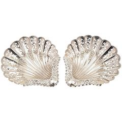 Pair of 19th Century Victorian Silver Dishes, Sheffield, 1896