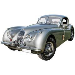 Silver Jaguar XK 120