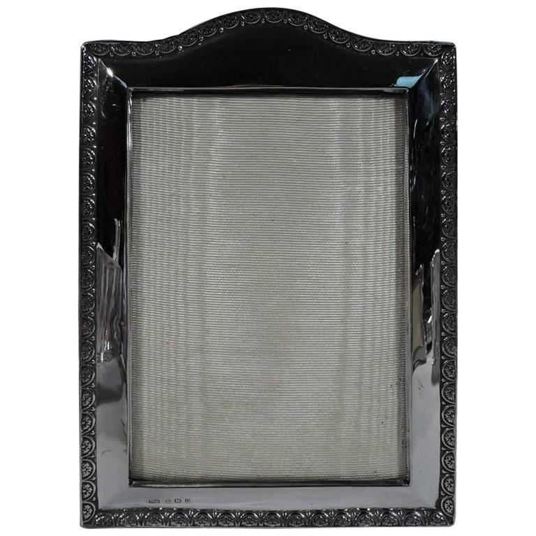 Antique English Sterling Silver Picture Frame