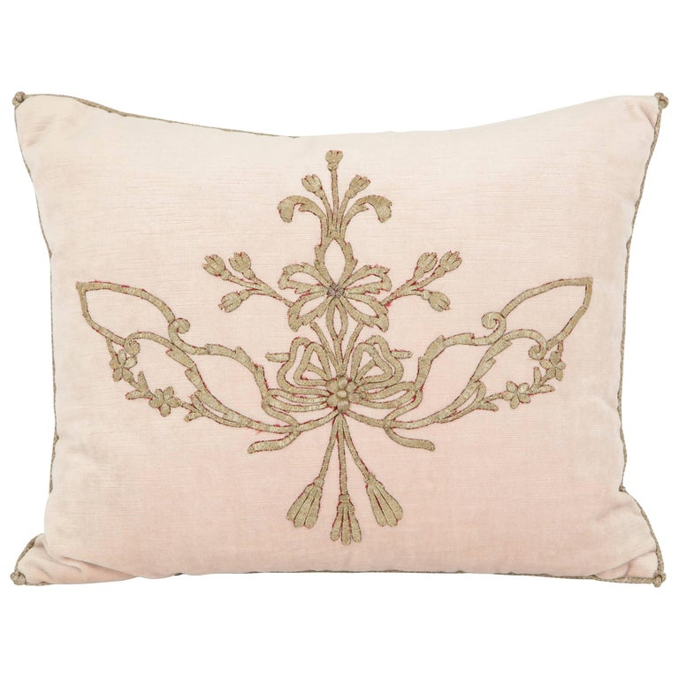 Pillow with Antique Embroidery
