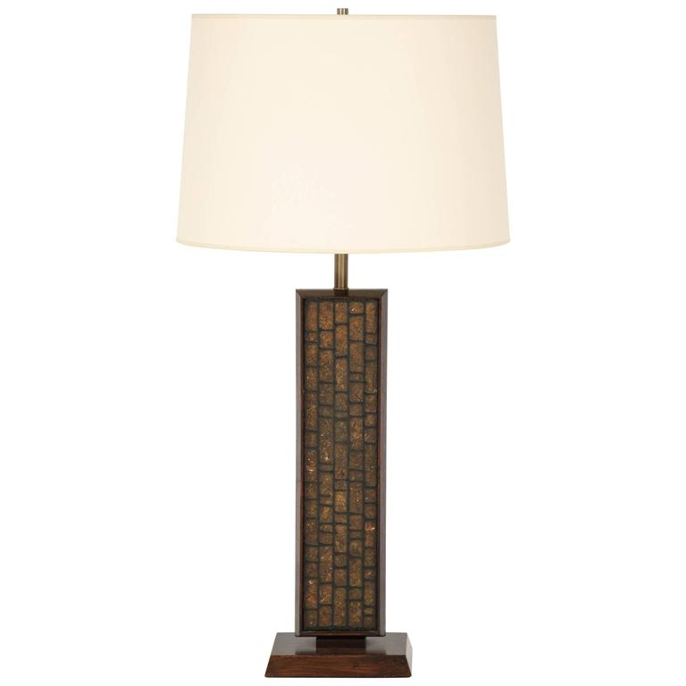 Tall Walnut Table Lamp 1