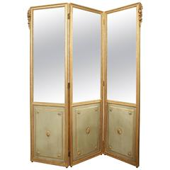 Louis XVI Stye Three-Panel Screen