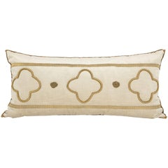 Long Velvet Embroidered Pillow