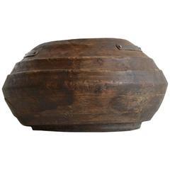 Large Wooden Bowl, 20th Century, Iran