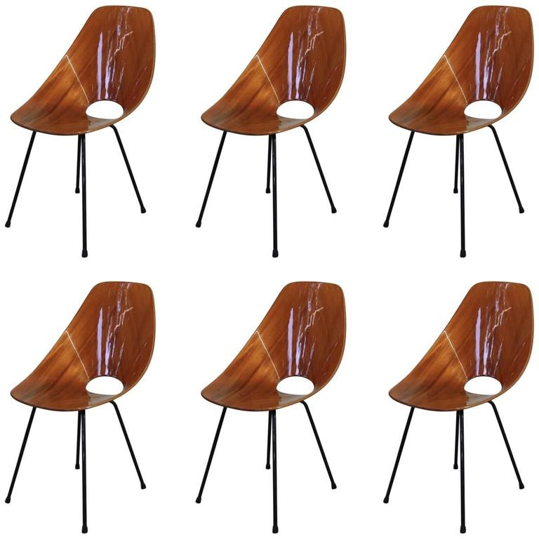 Set of 6 Medea Chairs by Vittorio Nobili