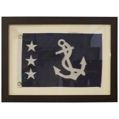 Framed Nylon Past Commodore Flag