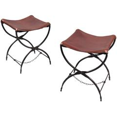 Pair of Campaign Folding Stools, France, 1965
