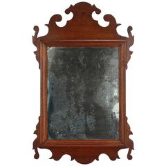 Diminutive 18th Century Mahogany Chippendale Mirror or Looking Glass