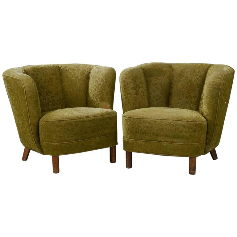 Pair of Danish Modern Tub Chairs For Sale