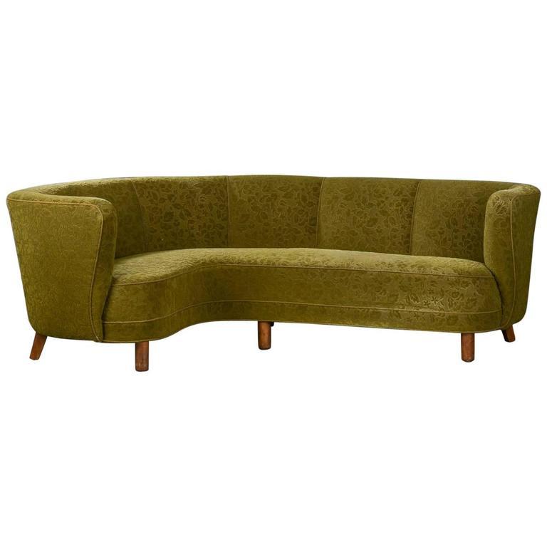 Danish Modern Corner Sofa 1