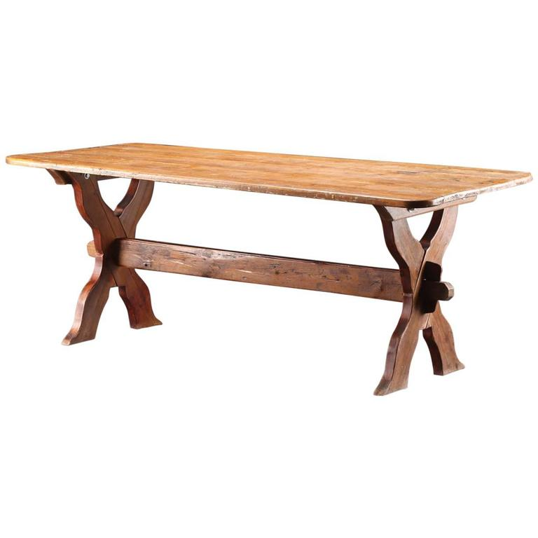 Danish Country Trestle Table 1
