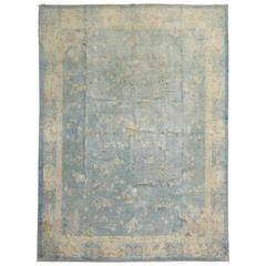 Watery Blue Antique Chinese Rug