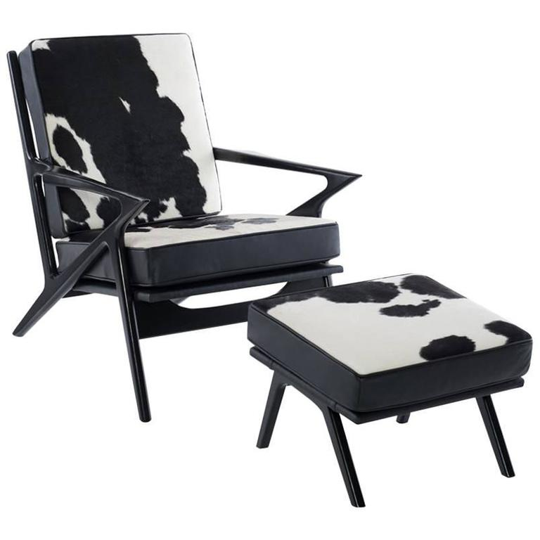 "Modern Danish ""Z"" Lounge Chair  Manner of Poul Jensen"