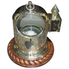 English Brass and Mahogany Yacht Binnacle Southampton, Circa 1870