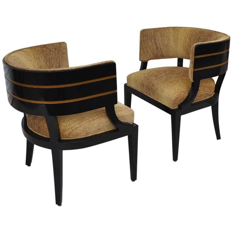Pair of Art Deco Donald Desky Style French Lounge Chairs, 1940s