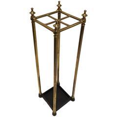 Victorian Brass and Cast Iron Umbrella Stand, circa 1860