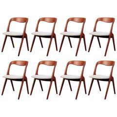 Vintage Danish Vamo Sonderborg Teak Dining Chairs
