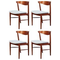 Vintage Danish Teak Dining Chair Set of Four