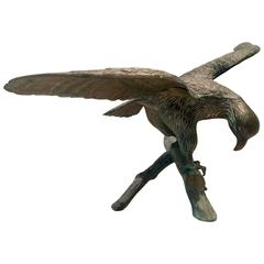 Mid-Century Bronze Eagle Sculpture