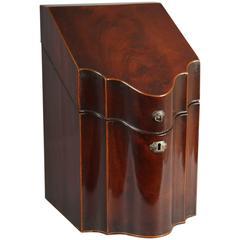 George III Mahogany Cutlery-Box