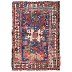 Antique Caucasian Kazak Lesghi Rug 150 cm x 205 cm, circa 1880
