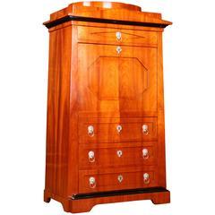 Secretaire Writing Cabinet in Biedermeier Style