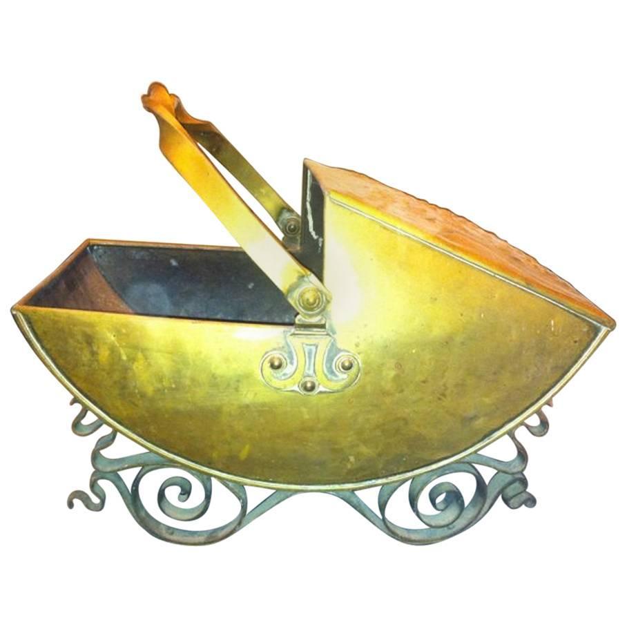 Dr Christopher Dresser attri, for Benham & Froud Brass & wrought iron Coal Box
