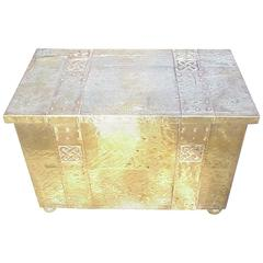 Arts & Crafts Glasgow Style Brass Log/Coal Box in the Margret Gilmour Style