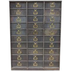 Late 19th Century Antique French Filing Cabinet