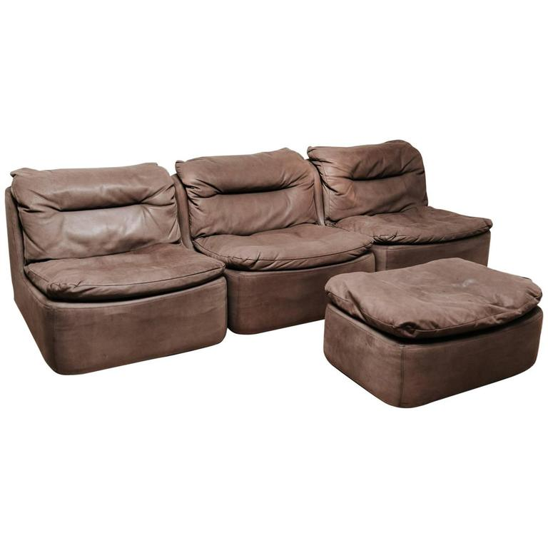 This Is A Leather Modular Sofa Designed By Friedrich Hill In 1972 And Produced Walter