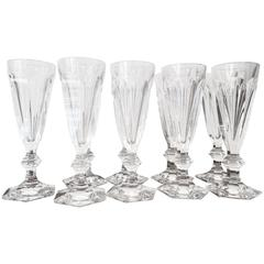 20th Century Set of Nine Baccarat Harcourt Tall Champagne Flute