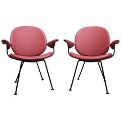 "Pair of Kembo ""302"" Armchairs with Wire Frames"