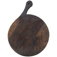 French Circular Cutting Board, Early 20th Century
