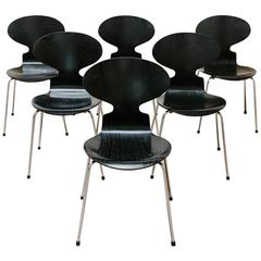 20th Century Set of Six Ant Chairs by Arne Jacobsen for Fritz Hansen