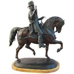 British 19th Century Equestrian Statue Depicting Philip II of Spain in Bronze