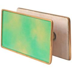 Gio Ponti Door Handles with Hand-Polished Enamel on Brass by Paolo De Poli