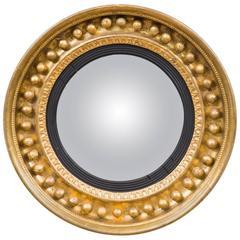 Antique Regency Period Giltwood Convex Mirror