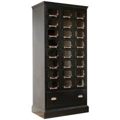 20th Century Ebonised Haberdashery Shirt Cabinet