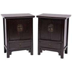 Pair of Chinese Inset Kang Cabinets