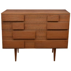Gio Ponti Walnut Commode for Singer & Sons