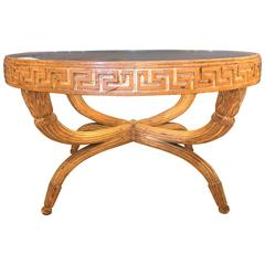 Sturdy Coffee Table in the Manner of Jean-Michel Frank