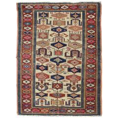Antique Kazak Rug with Colorful All-Over Geometric Design